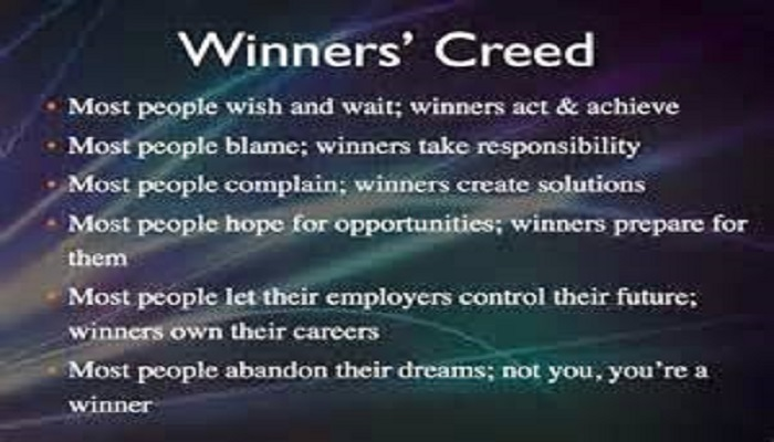 winners creed